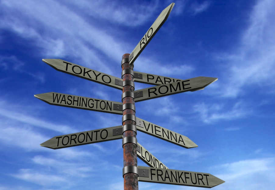 travel direction signs