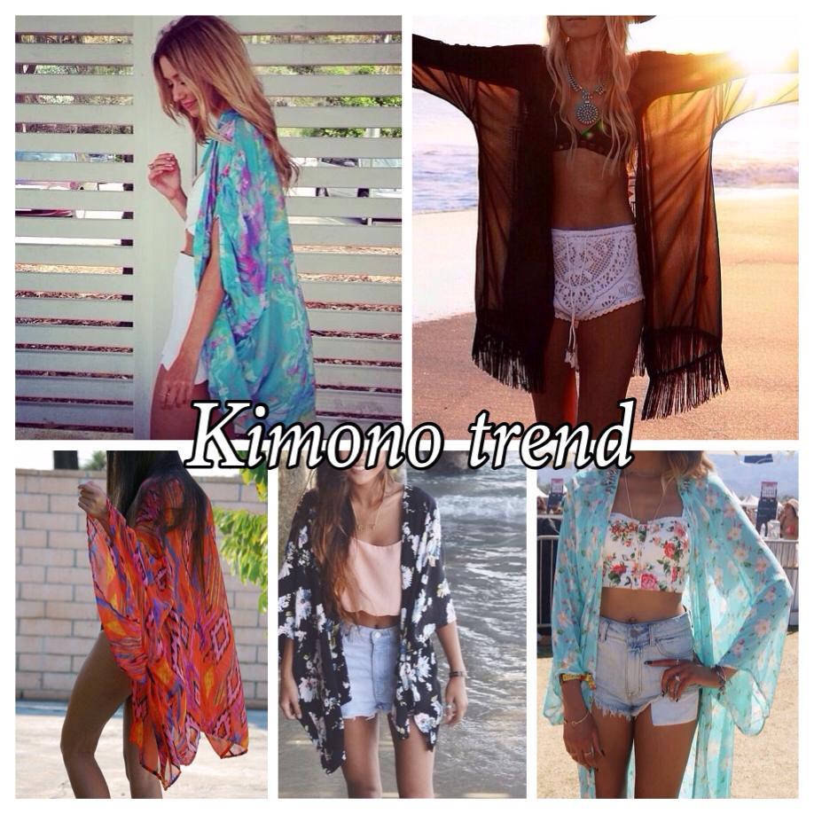 Beach kimono trend