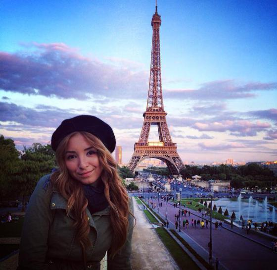 paris, girl, andreea design, tour eiffel, trocadero, sunset