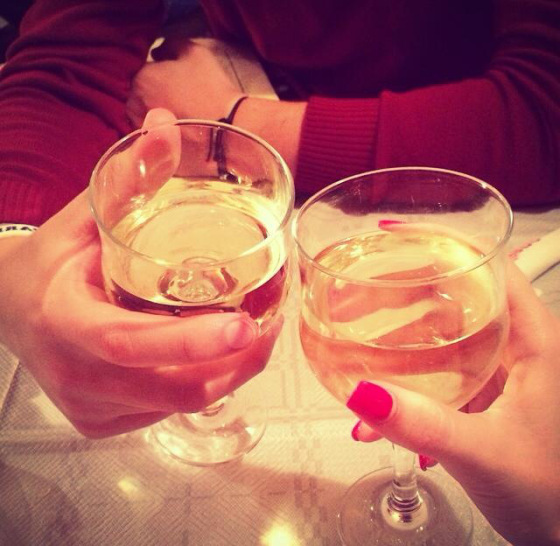 cheers, couple, wine