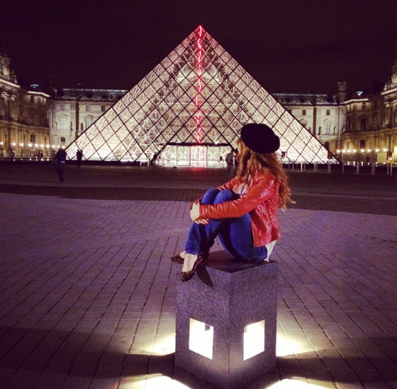 louvre by night, pyramides, andreea design