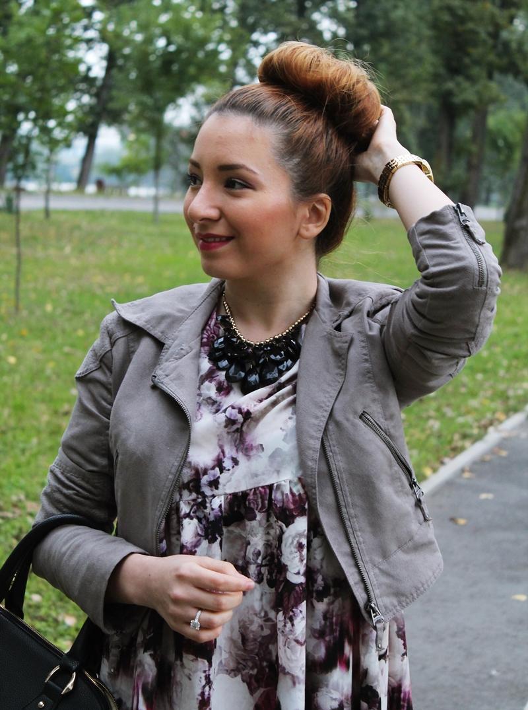 Blogger - tinuta - cum purtam cocul de balerina, tinuta de toamna, culori de toamna