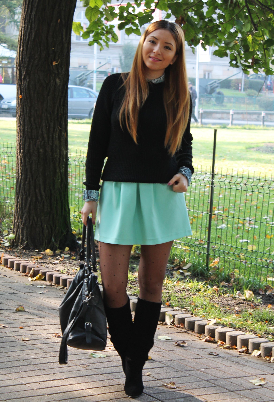 strampi cu buline tinuta de toamna blogger de moda romania