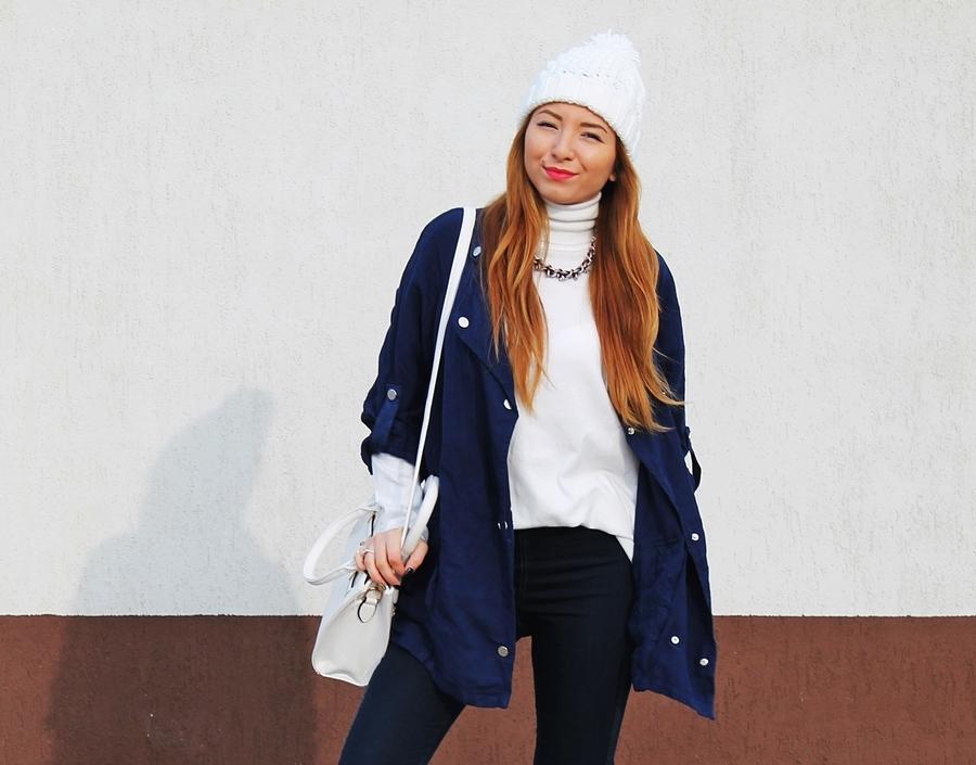 combinatia de albastru cu alb cum purtam