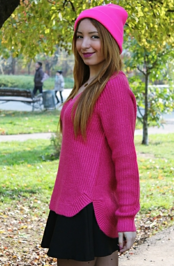 pulover roz hm