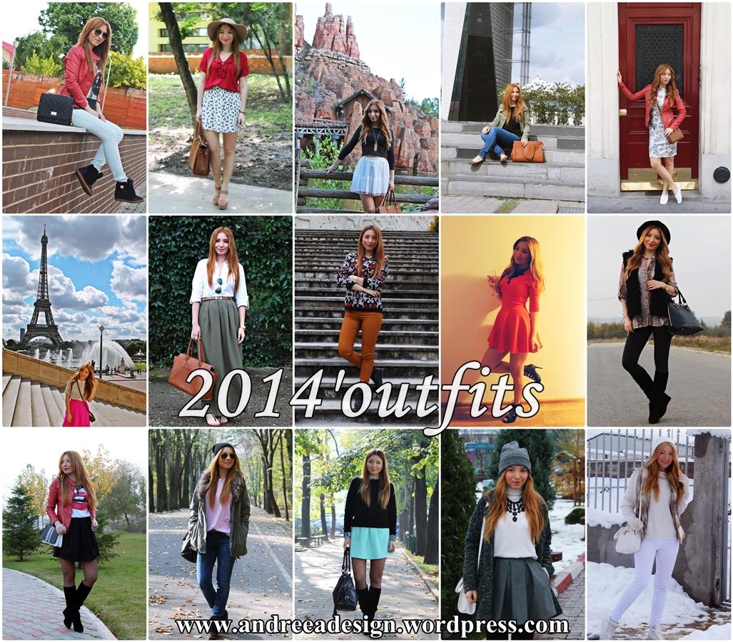 tinutele anului 2014 blogger de moda romania, 2014'outfits