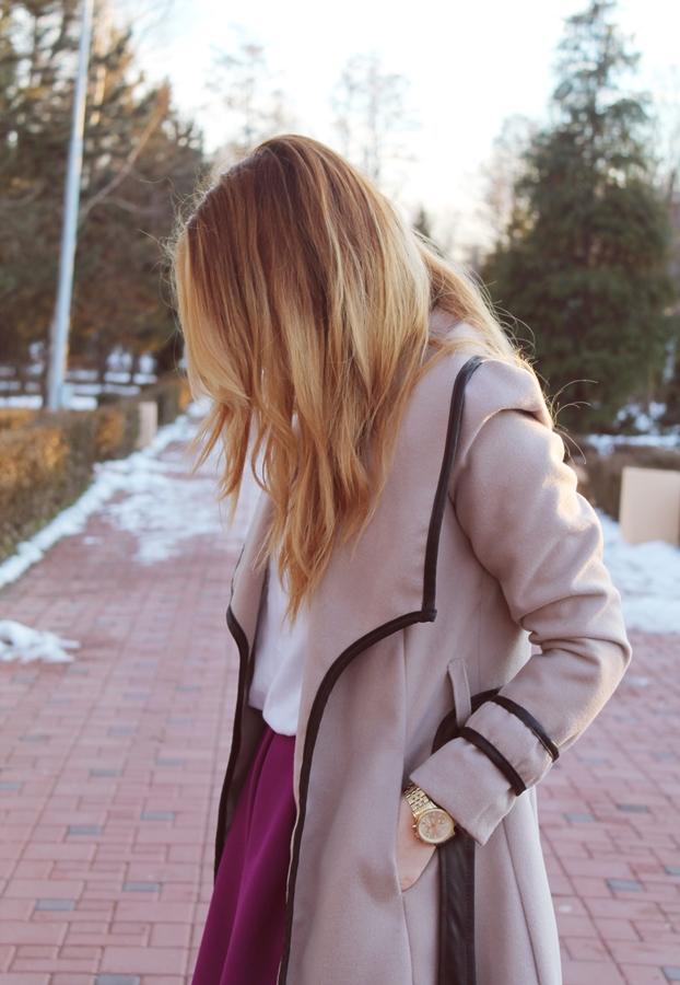 OOTD camel coat