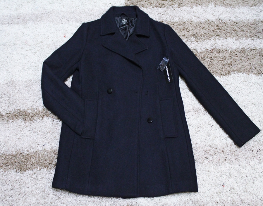 Palton C&A albastru inchis reduceri pitesti mall