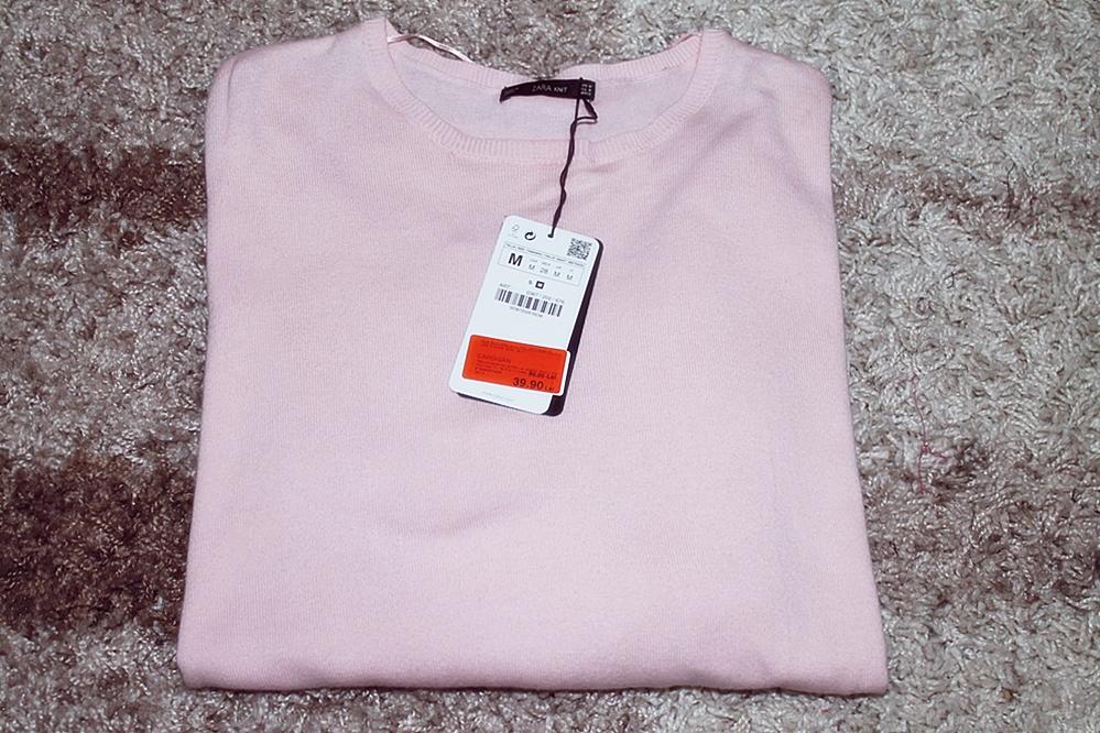 Bluzita roz pudrat zara