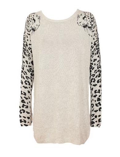 pulover tip rochie leopard gri, asos de pe kurtmann.ro