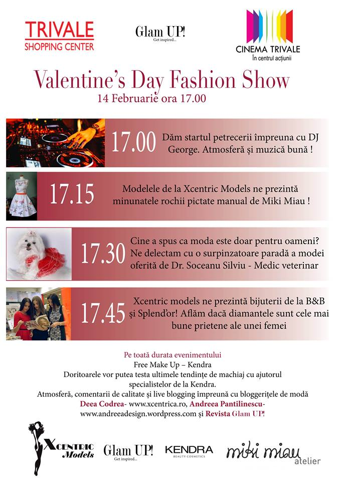 Valentine's day fashion show trivale shooping center, cinema city pitesti, 2015