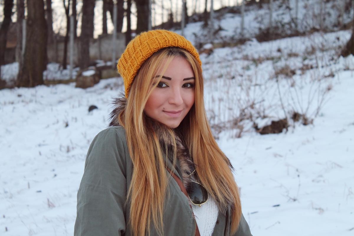 machiaj de zi, iarna, blog, par drept, caciula, blogger