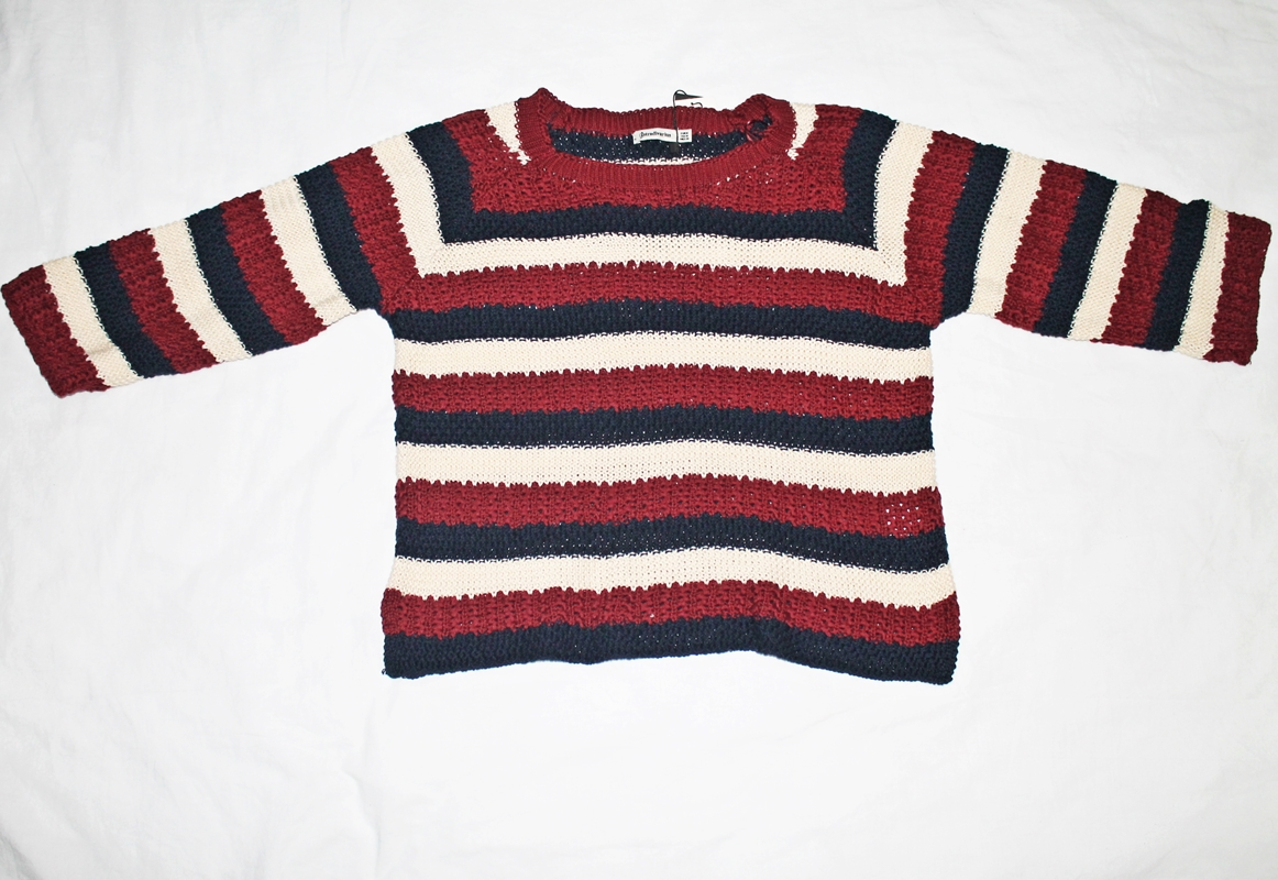 pulover stradivarius cu dungi, marin