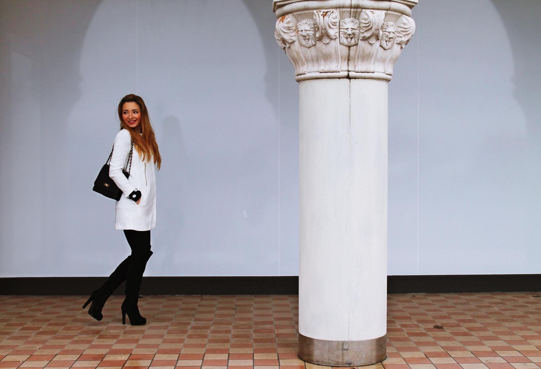 Andreea Design - blog de moda Romania, tinuta alb negru