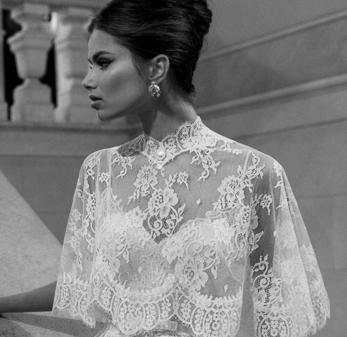 rochie mireasa vintage cu capa