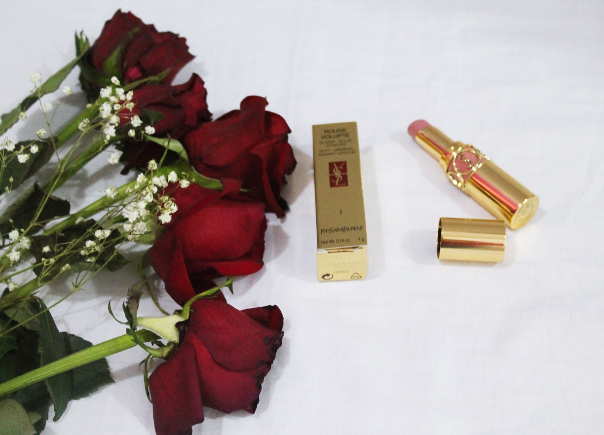 YSL rouge volupte shade 1 beige charnel