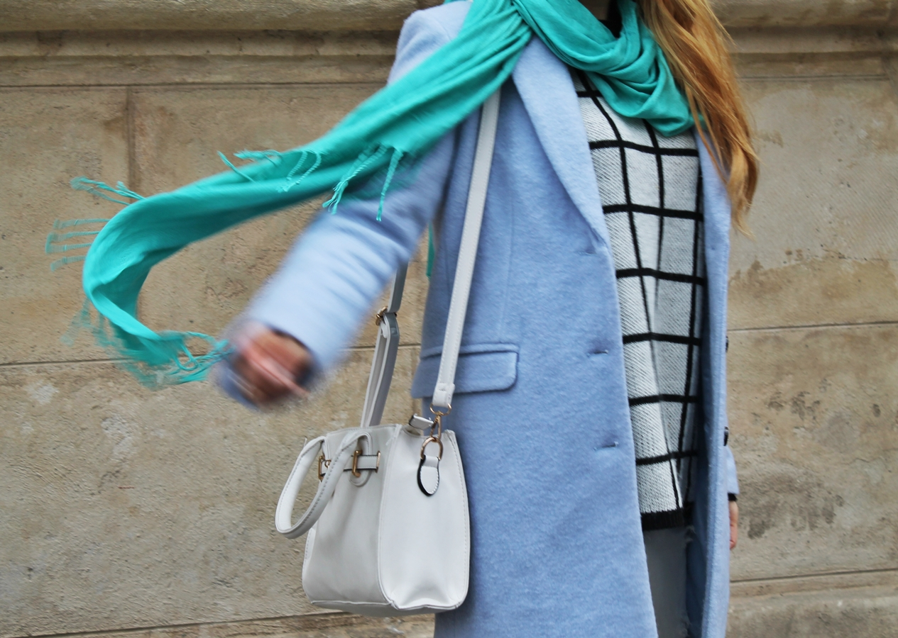 Moving, blogger, street style, pastels, mixing colours, blue and mint green
