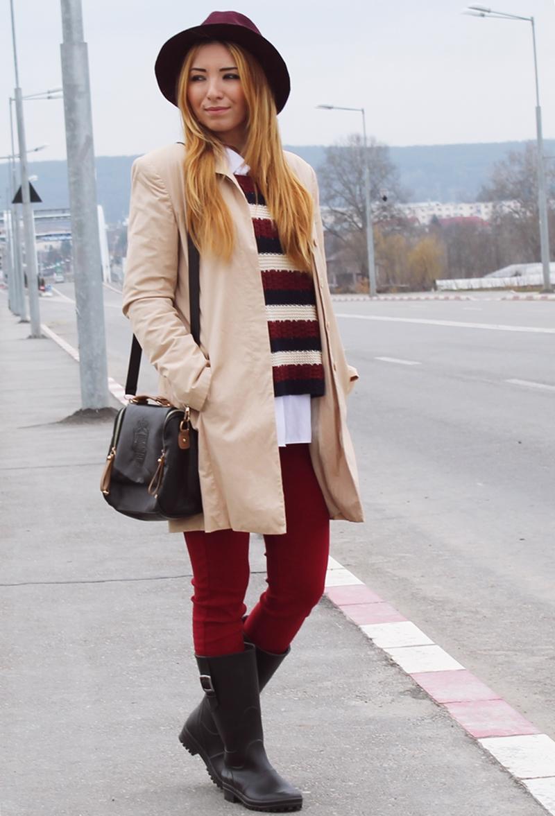 Tinuta de primavara cu trench coat bej camel. Blogger de moda Andreea Pantilinescu