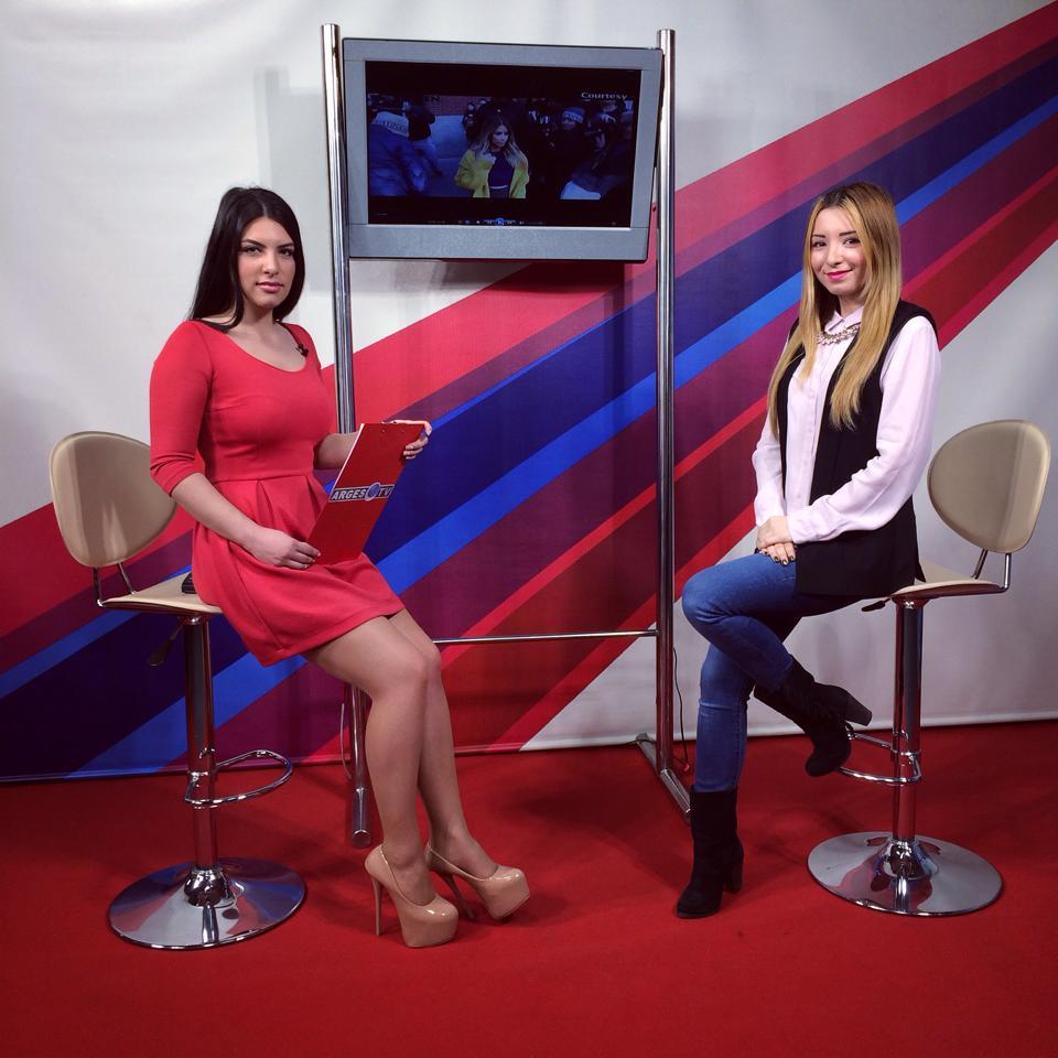 Emisiunea Movie Time Arges Tv, Andreea Pantilinescu, Daria Radulescu