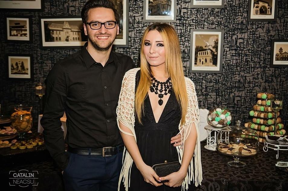 Andreea si Adrian Ristea  Glam Up party, cupluri bloggeri moda pitesti