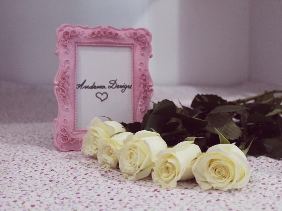 Andreea Design white roses