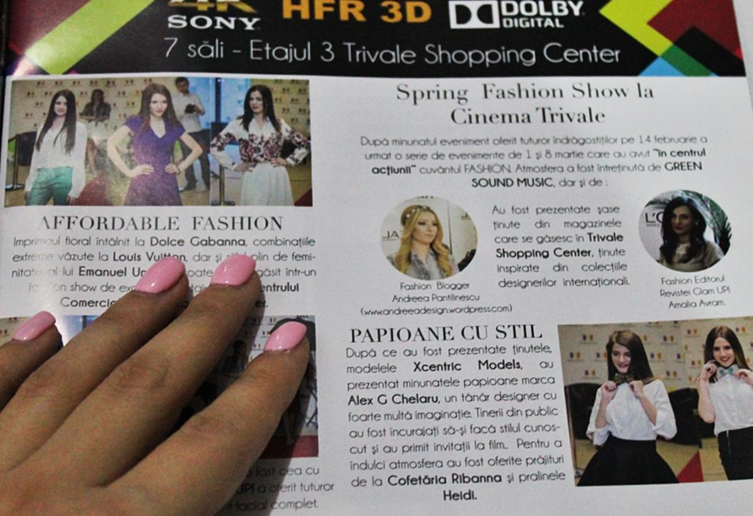 Andreea Pantilinescu, blogger de moda, revista Glam Up aprilie