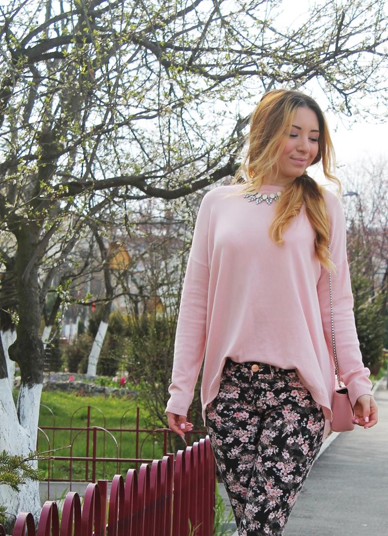 Bluzita feminina roz pastel Zara