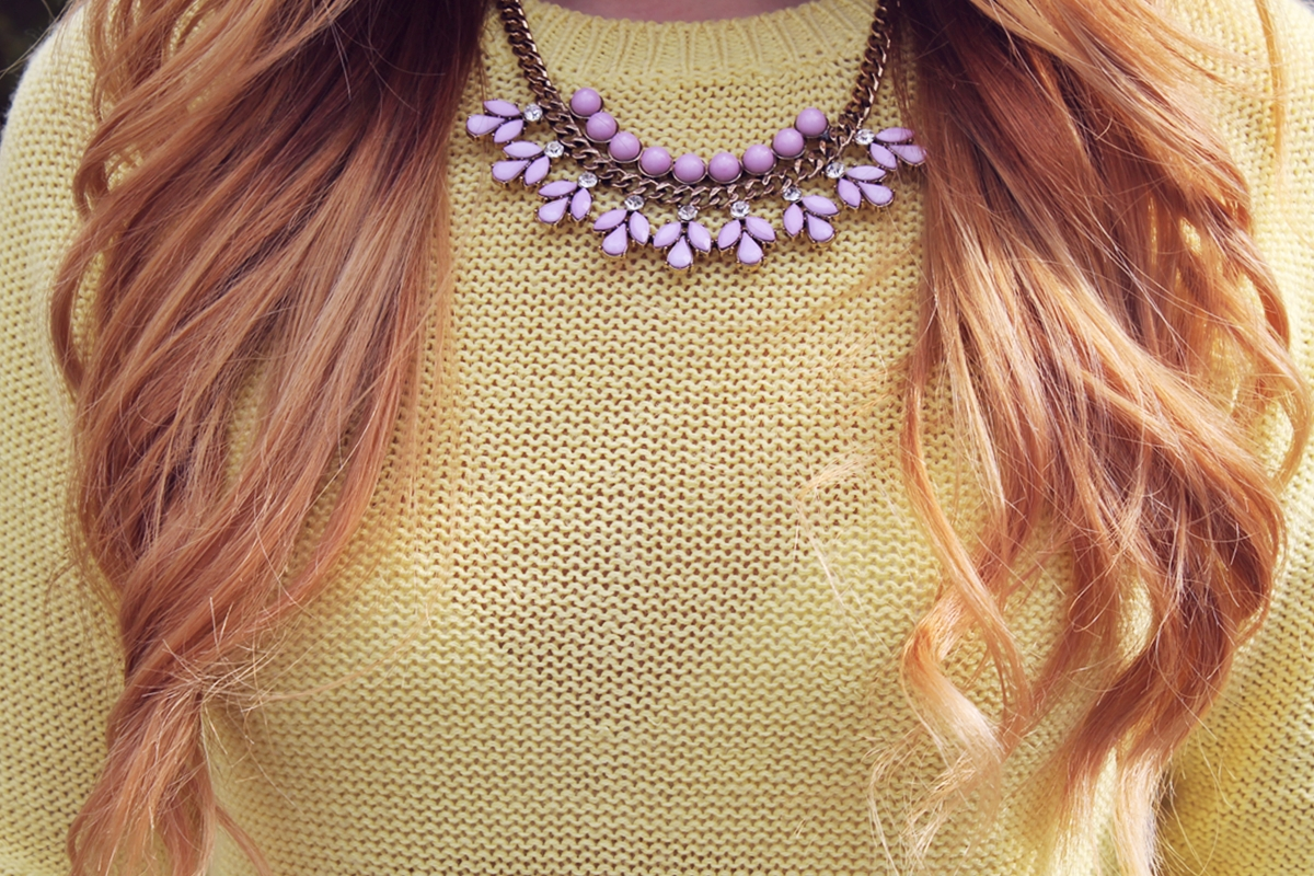 /colier statement lila C&A roz