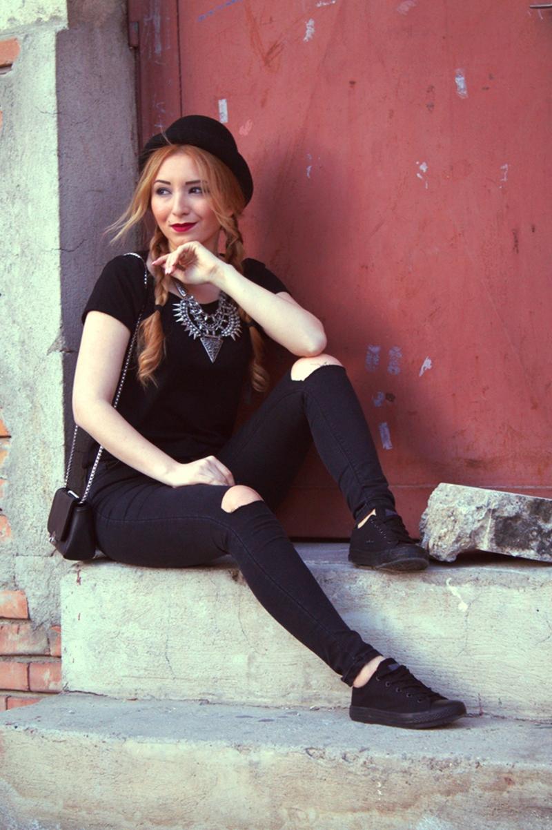 Andreea Ristea - blogger de moda |Tinuta all black