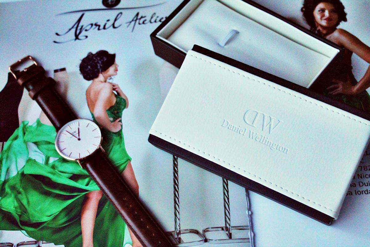 Daniel Wellington brown watch ,  ceas cu curea din piele maro