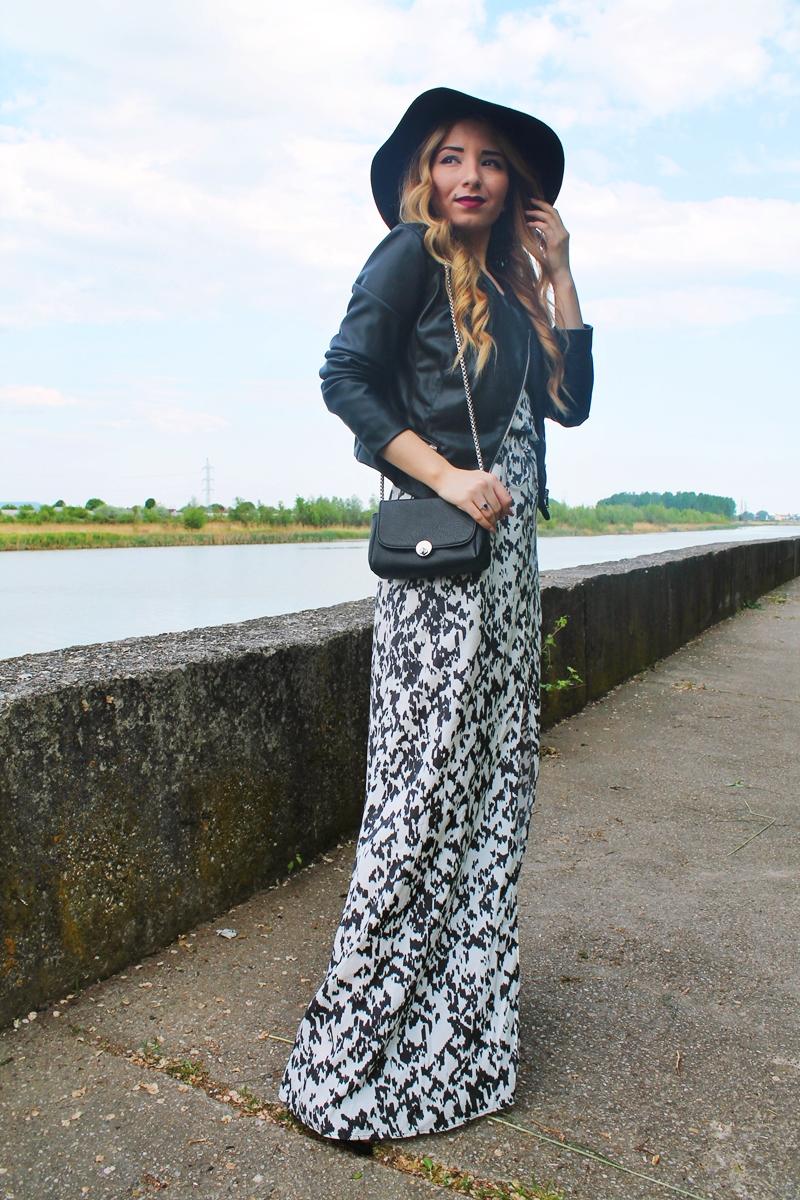 combinatia de alb cu negru: cum purtam rochia lunga tinute