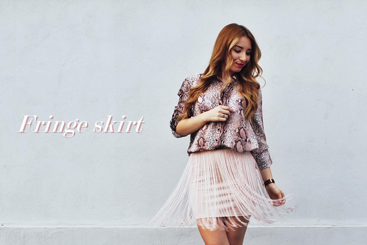 Fringe skirt, street style, fusta cu franjuri, bershka, blog, fashion