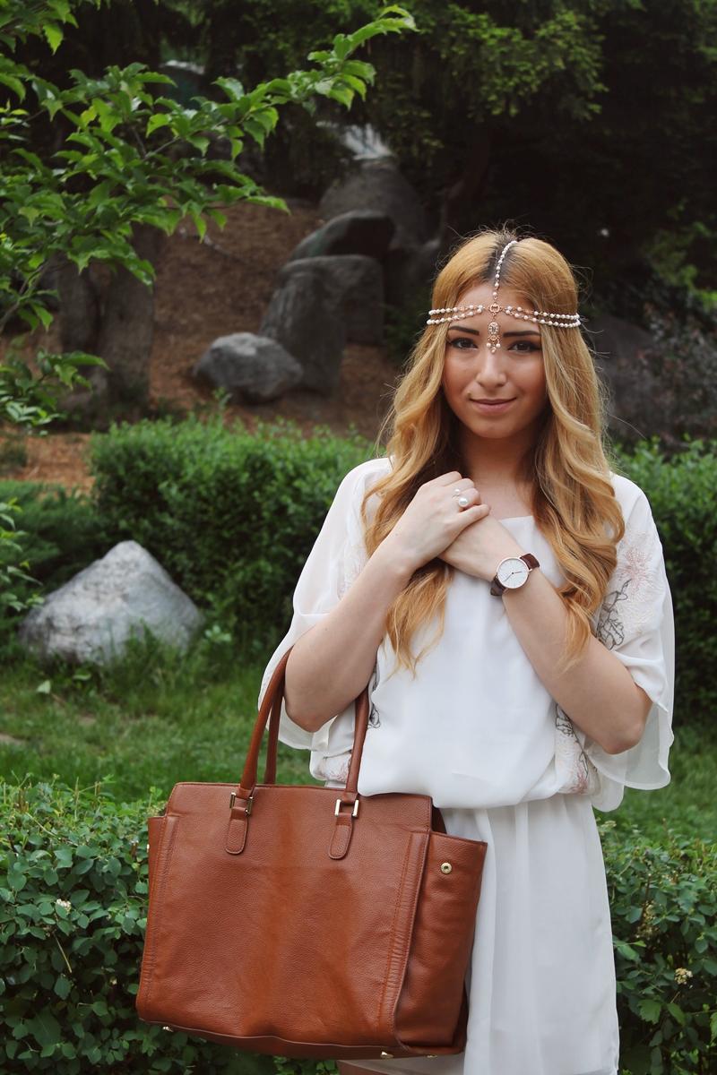 Stilul boho, influente boho: bentita de pus pe cap, lant de par, chair hair, blogger de moda andreea ristea, andreea design, andreea pantilinescu