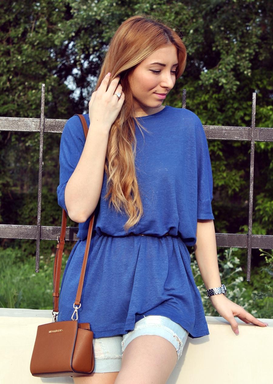 bluza larga oversize, albastru puternic, electric - andreea ristea blog, fashion, blogger