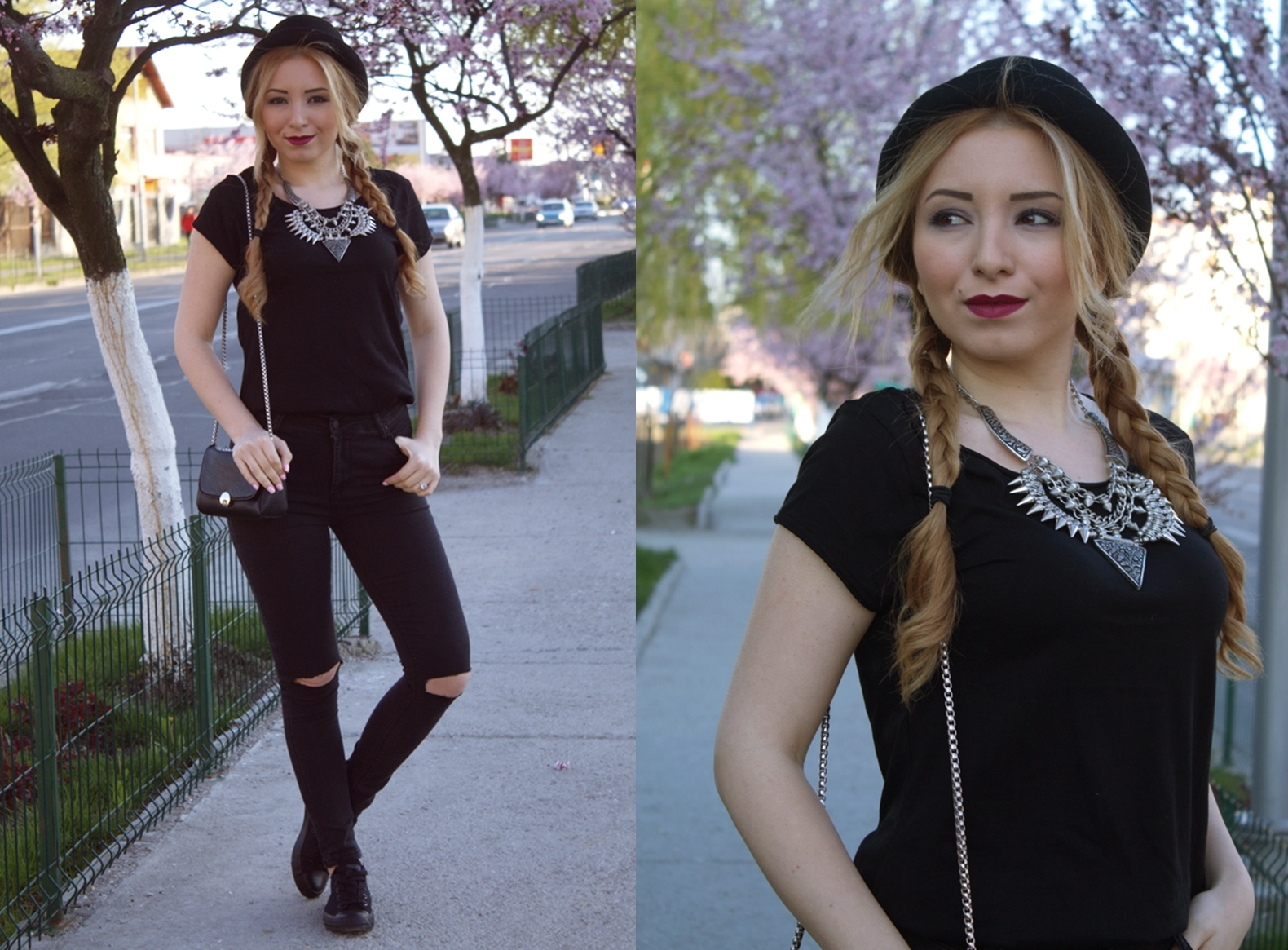 lookbook all black - Andreea Design street style