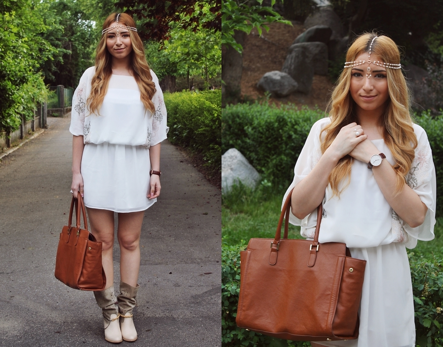 lookbook - andreea design white dress, boho style