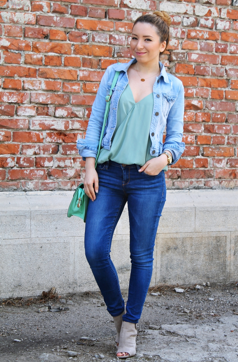 Tinute cu blugi skinny - blogger de moda Andreea Pantilinescu