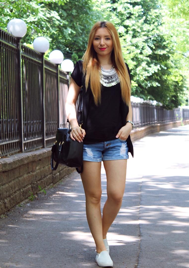 Vesta tuxedo Zara neagra - tinuta de vara