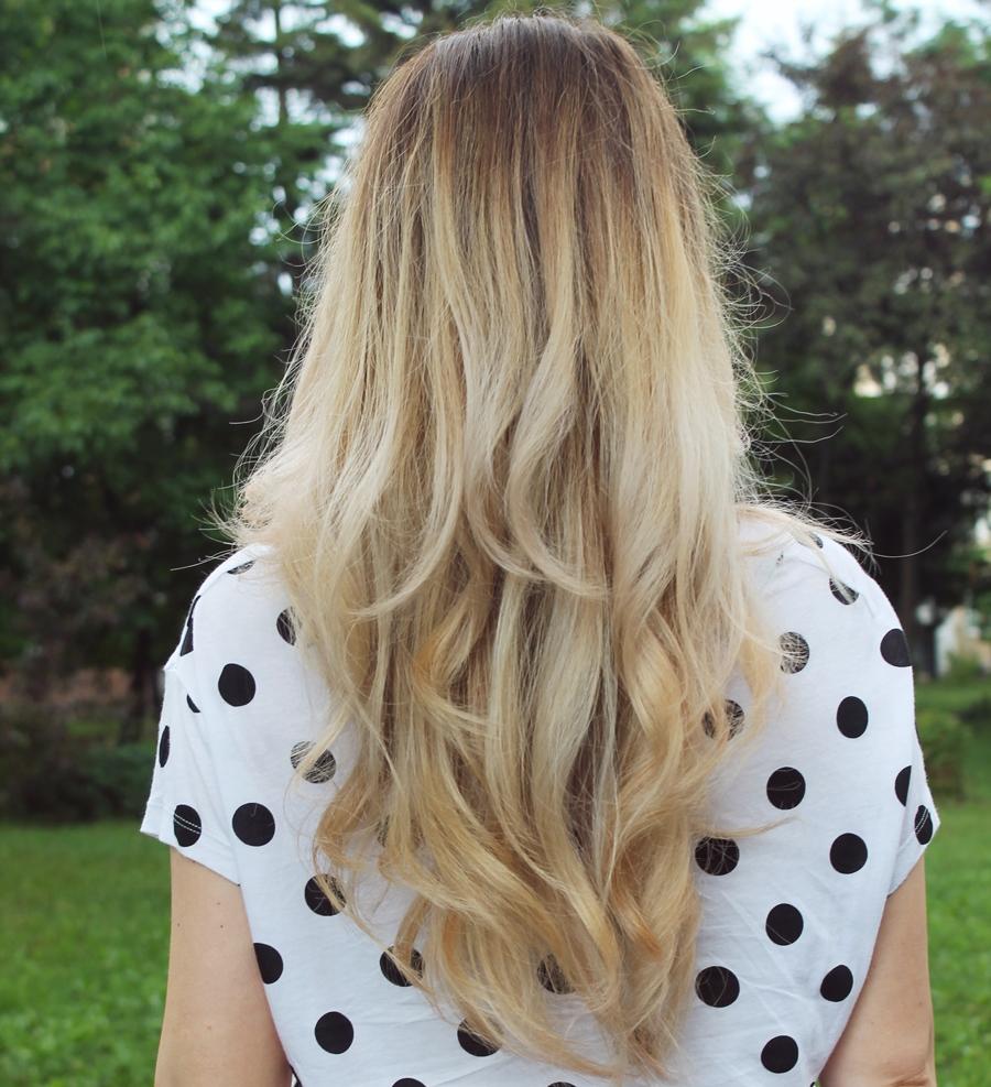 Par blond perlat, ombre