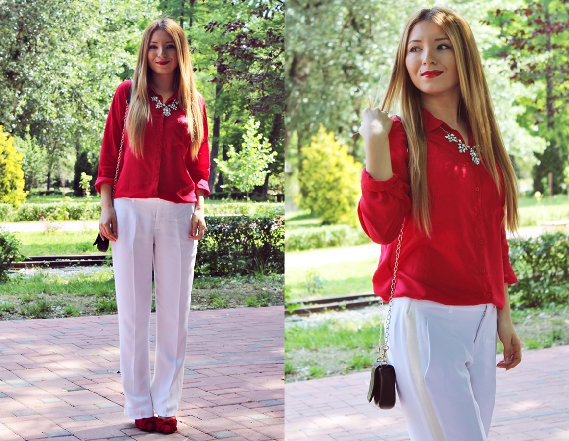 Lookbook Andreea Design - summer white loose pants