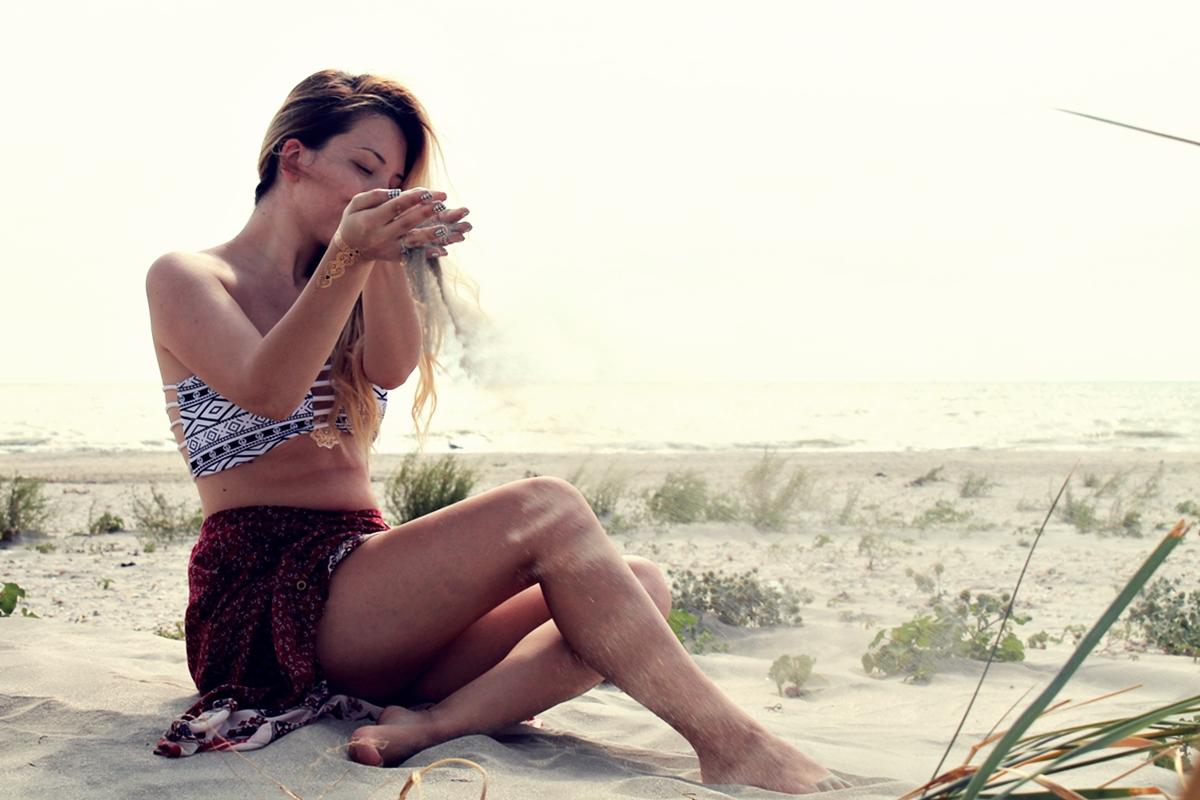 plaja corbu - turist