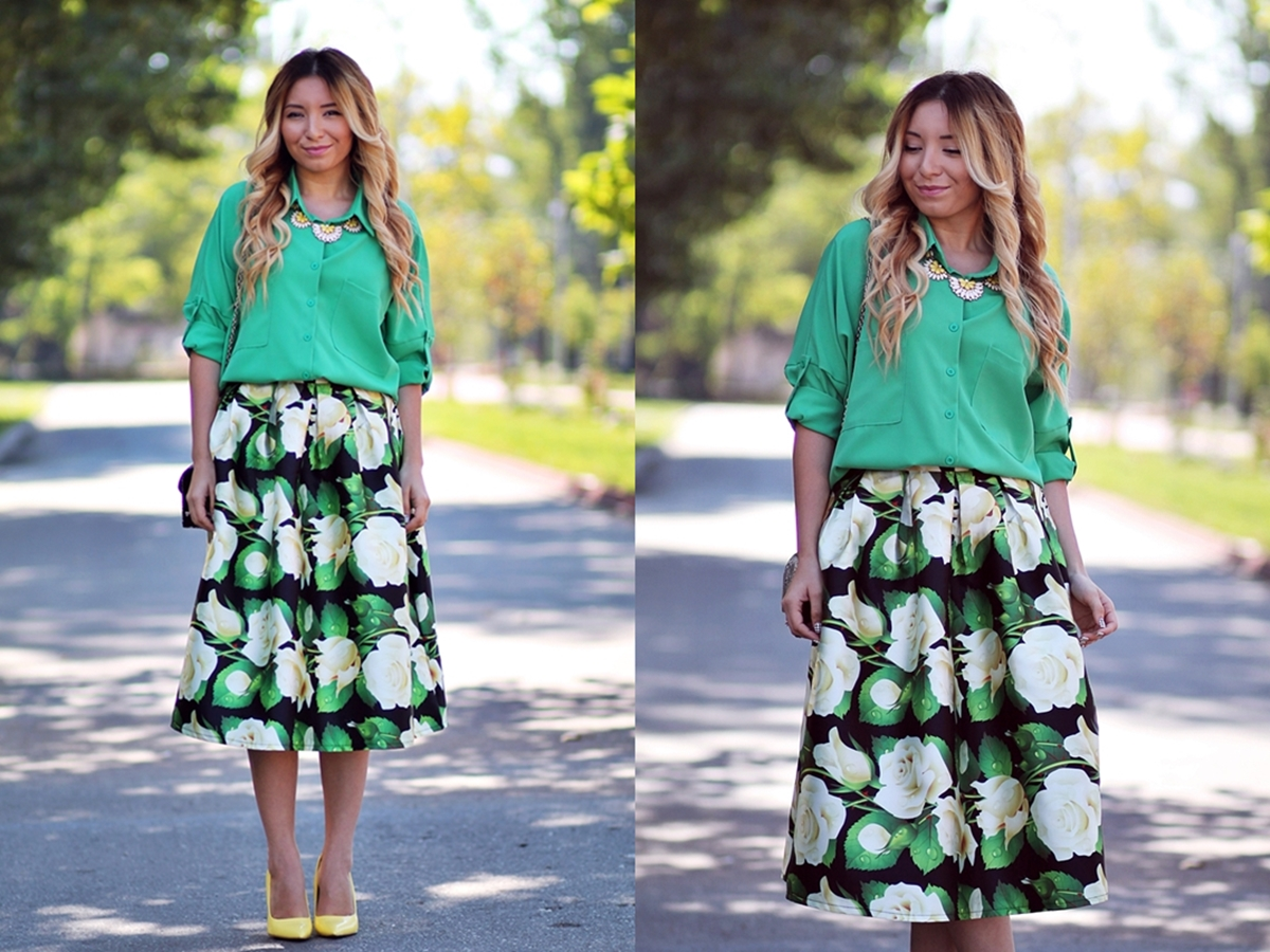 lookbook - all green outfit - summer look