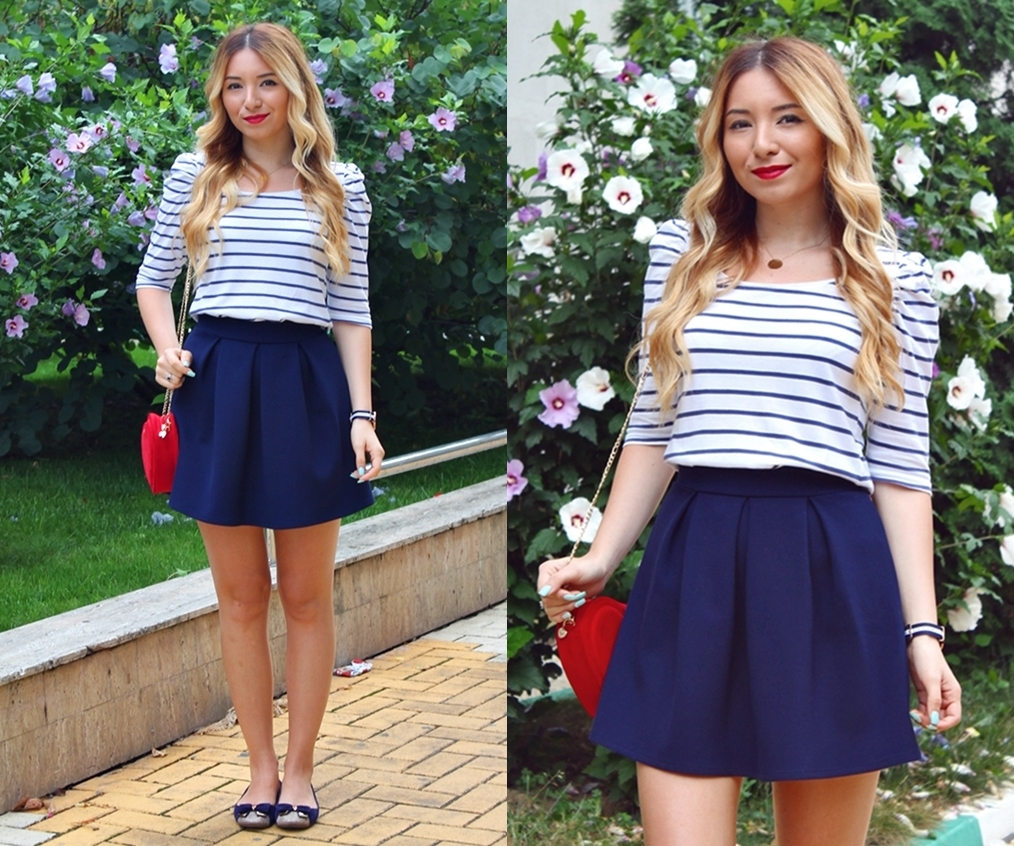 lookbook navy style - blue stripes