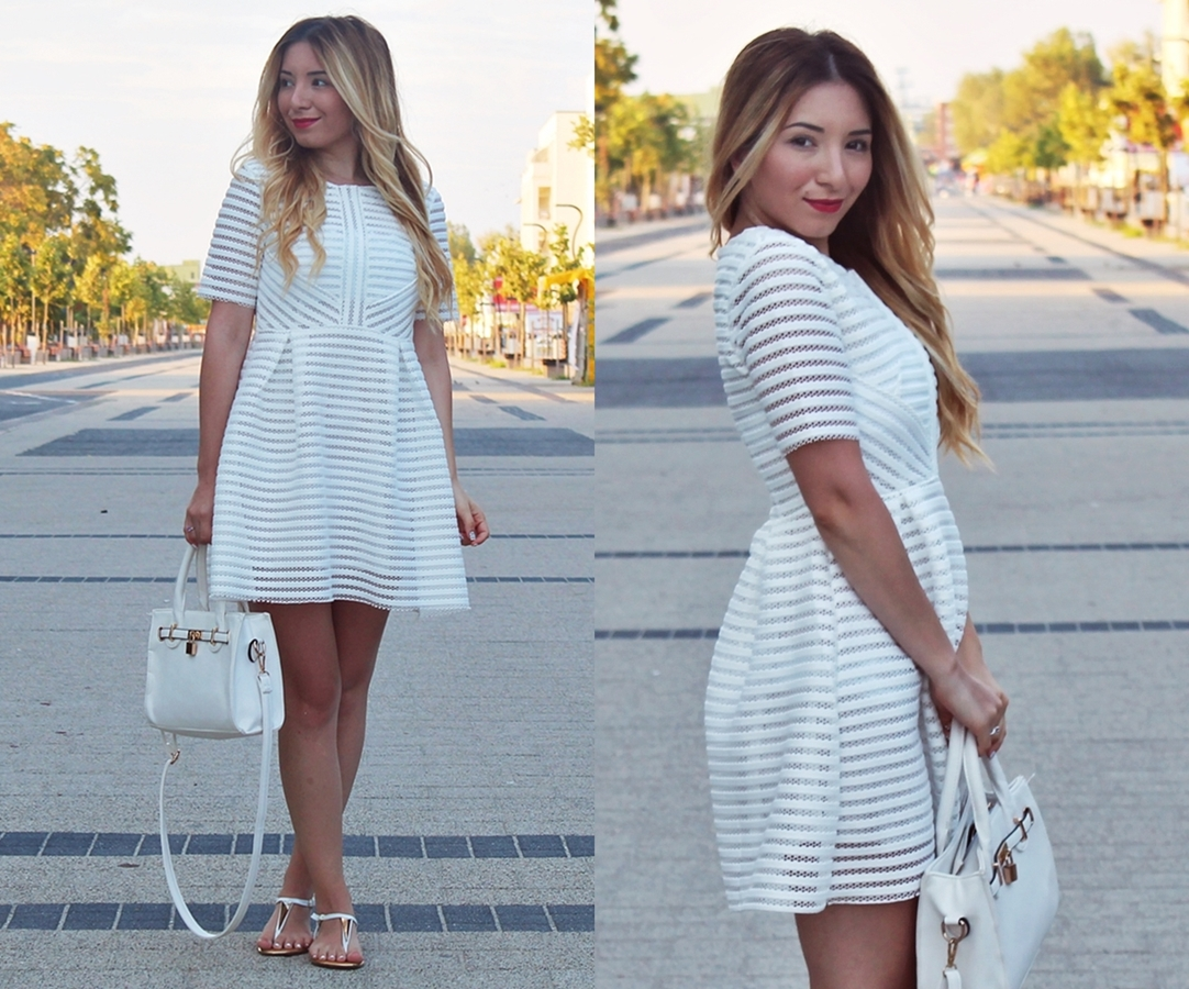 lookbook - all white outfit of the day - summer