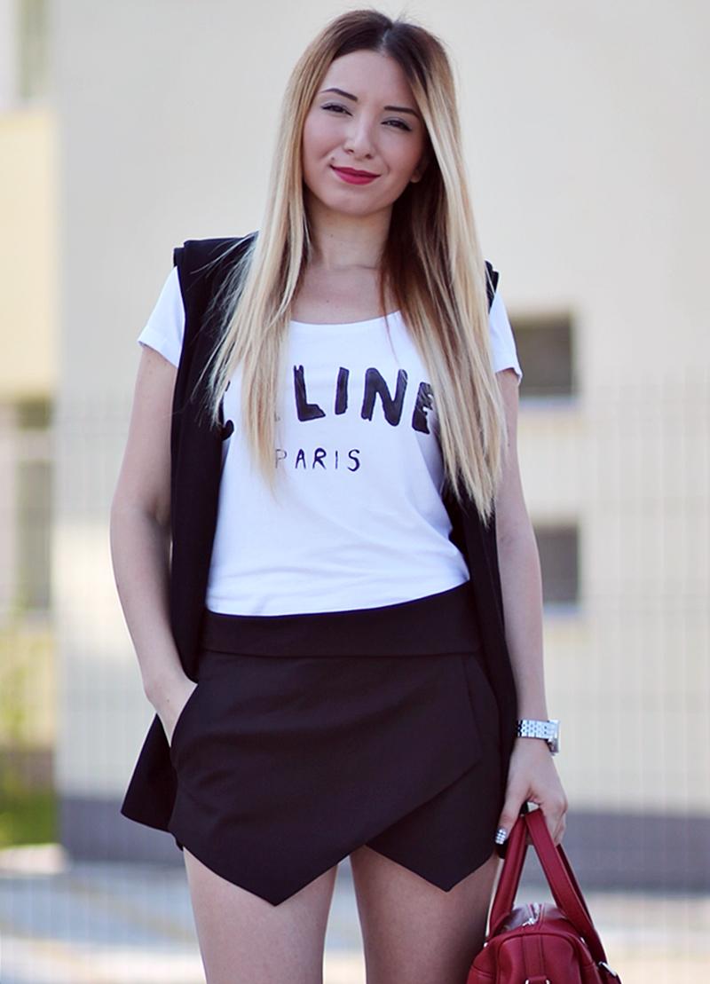 Tricou Celine Paris alb