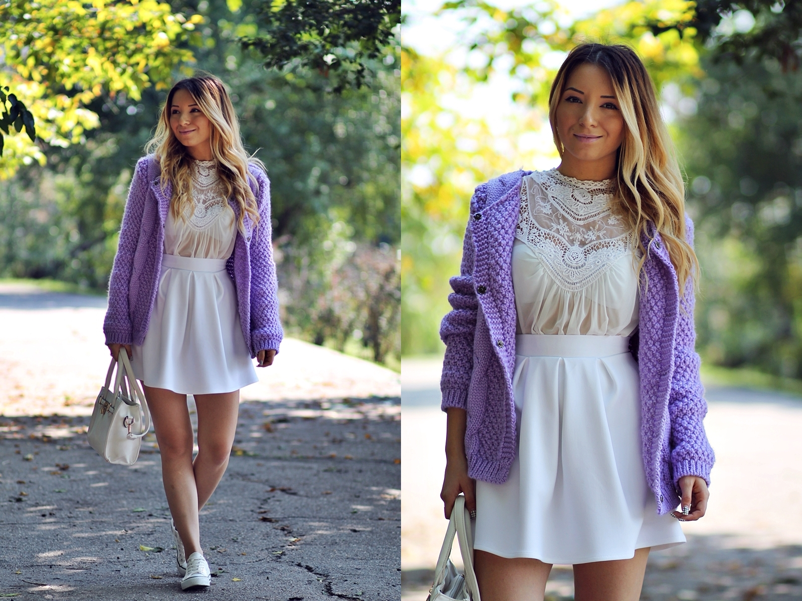 lookbook - lavender cardigan