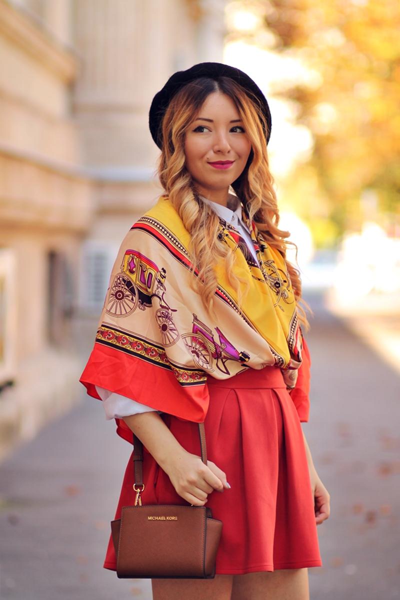 Cum sa porti o esarfa? Blogger de moda - Tinuta de toamna