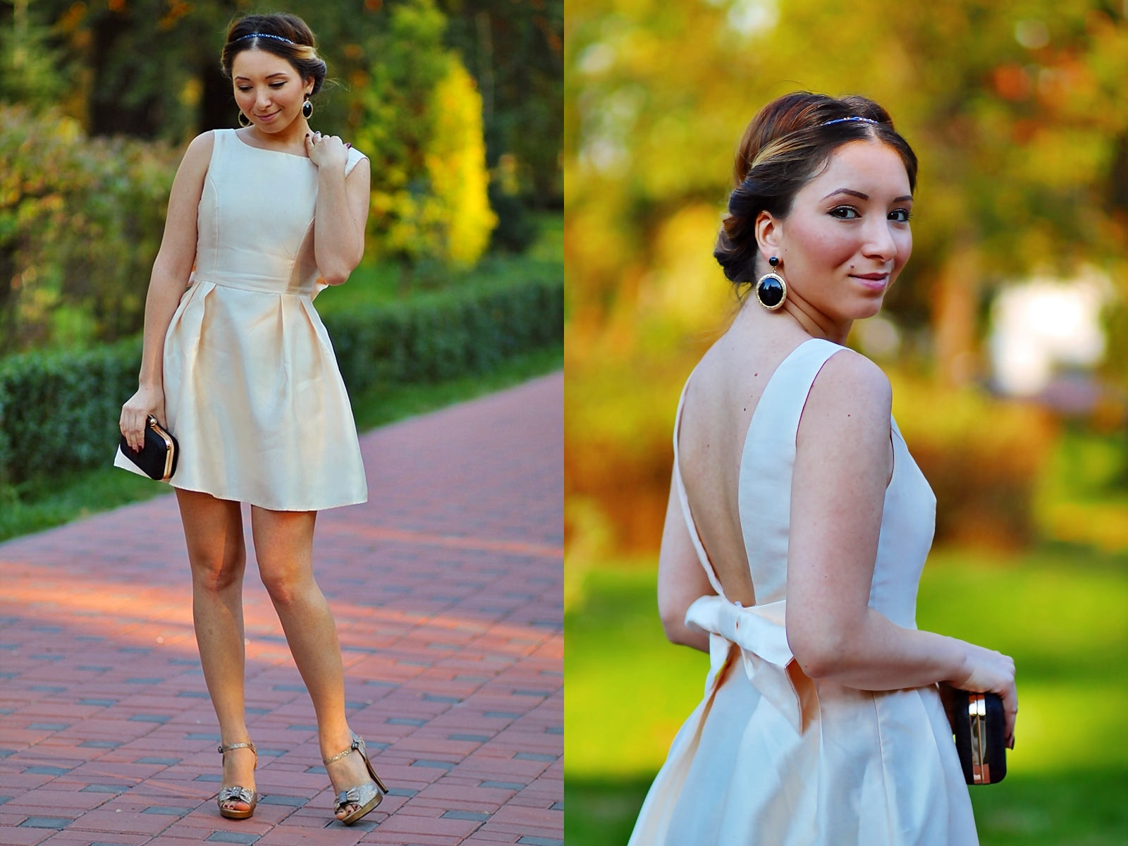 lookbook - golden short princess dress