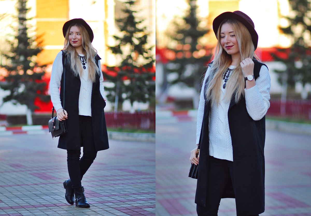 lookbook - long black vest