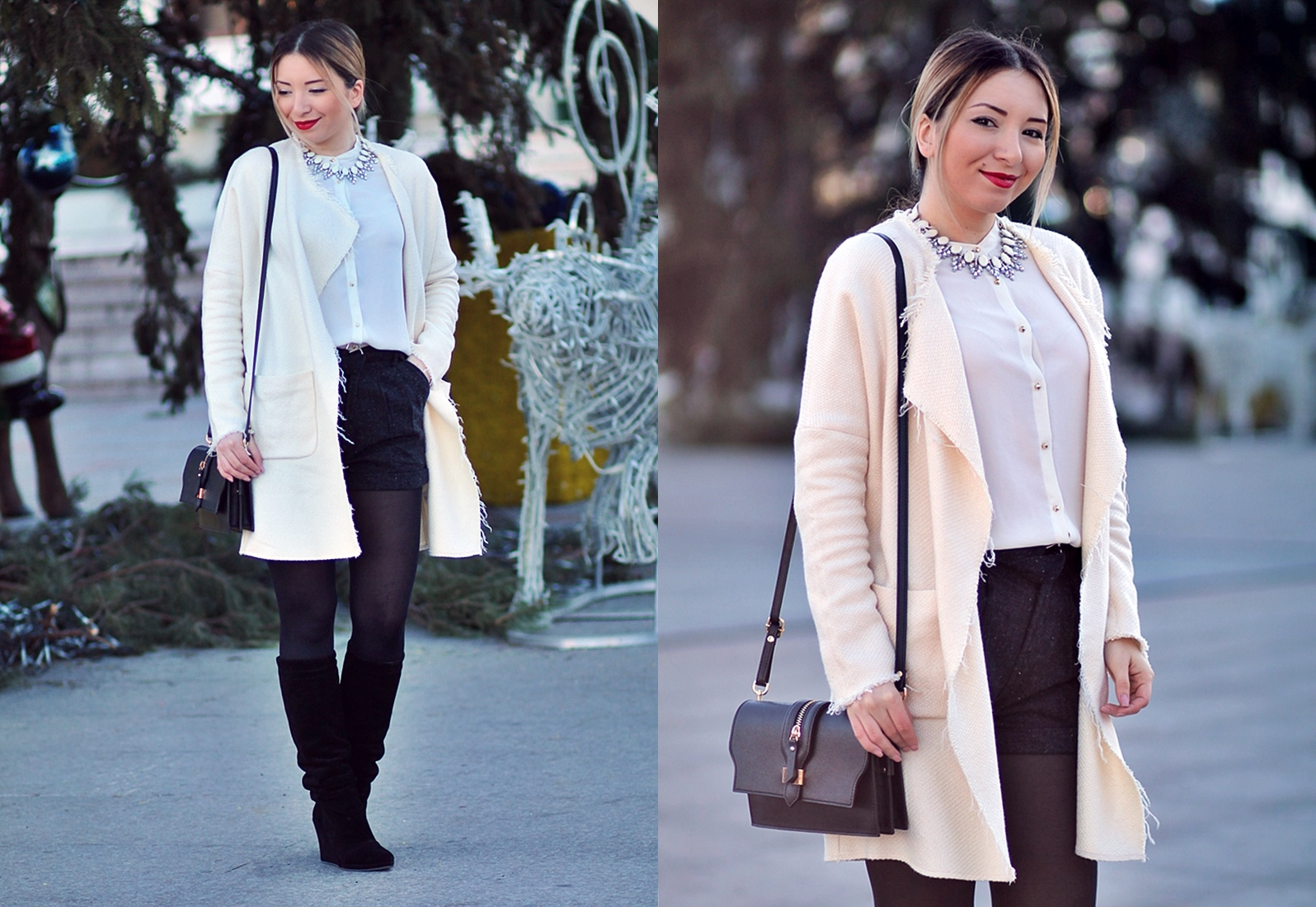lookbook - black and white - winter look